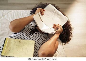 学习, 担心, 大学生, 化学, 家庭作业