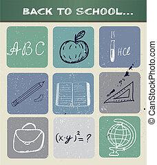 学校に戻って, poster.