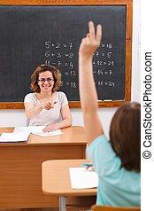 学校の 女の子, 腕の上昇