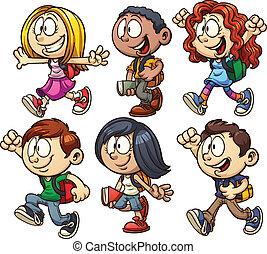 学校の 子供