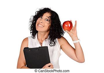 学校教師, ∥で∥, ∥, apple.
