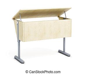 学校机, 隔離された, 白, バックグラウンド。, 3d, render, イメージ
