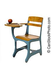 学校, アップル, 机