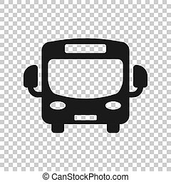 学校, コーチ, ビジネス, バス, concept., 隔離された, イラスト, style., バックグラウンド。, ベクトル, autobus, 透明, 輸送, アイコン