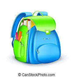 学校, ベクトル, 袋