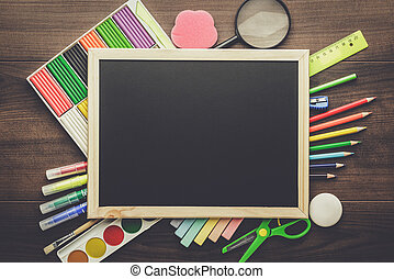 学校 供給, そして, 黒板
