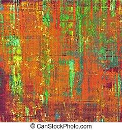 学校, 古い, 色, 別, 黄色, (beige);, バックグラウンド。, blue;, (orange), green;, textured, patterns:, 赤