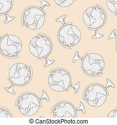 学校, 地球, seamless