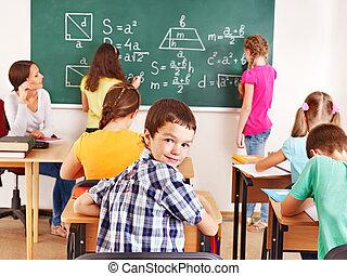 学校, 子供, ∥で∥, teacher.
