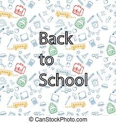 学校, 往回, 背景, 附件