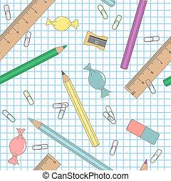 学校, 教育, -, seamless