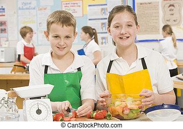 学校, 料理, クラス, 学童