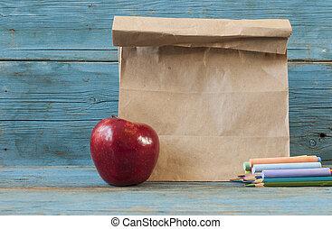 学校, 朝食, 机