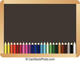 学校, 板, ∥で∥, カラードの鉛筆