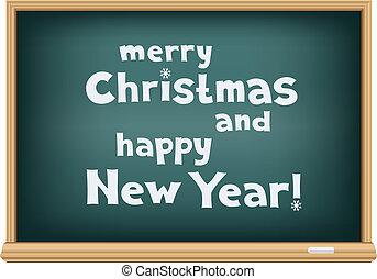 学校, 板, クリスマス