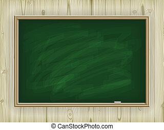 学校, 板, 上に, 木製である, 背景
