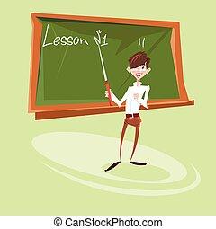 学校, 概念, 黒板, レッスン, 教育, 教師