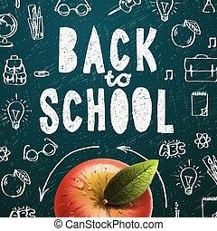 学校, 歓迎, 背中, 背景, セール
