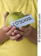 学校, 爱, 孩子