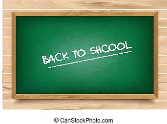 学校, 緑, 板, 上に, 木製である, 背景
