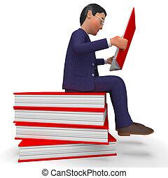 学校, 読書, 手段, 本, ビジネスマン, 博学, 教育