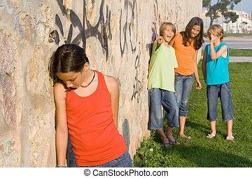 学校, bully, ∥あるいは∥, bullies, いじめ, 悲しい, 孤独, 子供