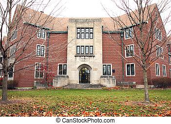 学生住处, 大厅, 在上, a, 大学校园