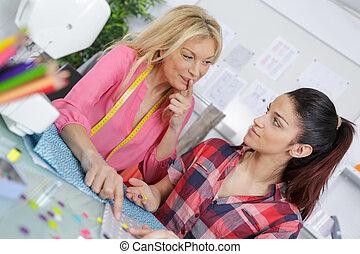 学生, ∥で∥, 教師, 中に, dressmaking, クラス