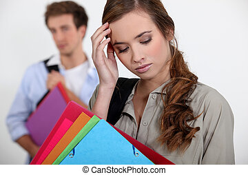 学生, ∥で∥, a, 頭痛