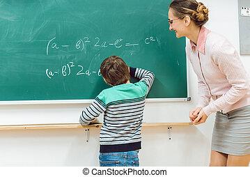 学生, 中に, 学校, すること, 練習, ∥において∥, ∥, 黒板