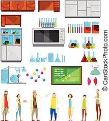 学生, 化学制品, 元素, 实验室