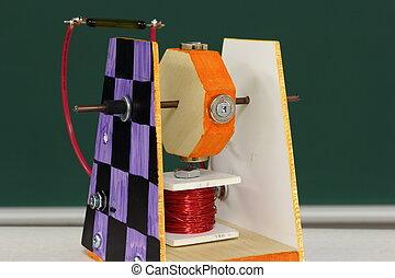 学生, 磁気, スイッチ, モーター, project:, 技術