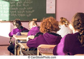 学童, ありなさい, 参加, 活発に, クラスで
