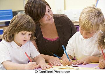 学童, そして, ∥(彼・それ)ら∥, 教師, 中に, a, 予備選挙, クラス