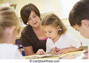 学童, そして, ∥(彼・それ)ら∥, 教師, 読書, 中に, a, 予備選挙, クラス
