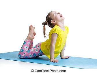 孩子, 做, 健身, 鍛煉