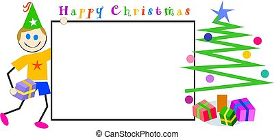 孩子, 圣诞节, 签署