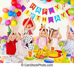 孩子, 生日聚會, .