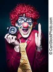 孩子, 生日, 照像機, 小丑, 黨, 興奮