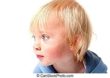 孩子, 肖像, 被隔离, 斯堪的納維亞人