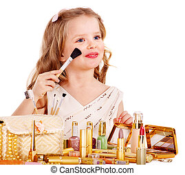 孩子, cosmetics.