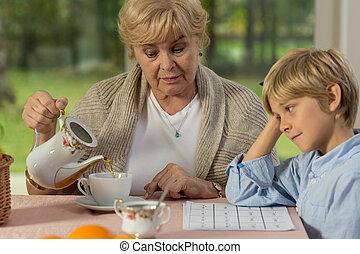 孫, おばあさん