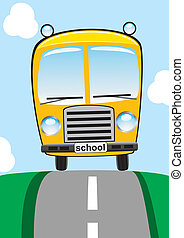 學校公共汽車, 在道路上