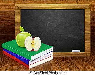 學校書, 以及, 黑板