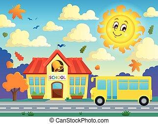 學校, 以及, 公共汽車, 主題