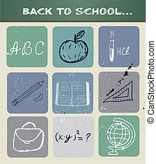 學校, poster., 背