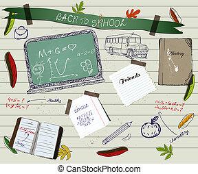 學校, poster2., scrapbooking, 背