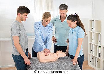 學生, 學習, cardiopulmonary 复活