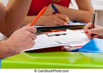 學生, 寫, 重要, 事情
