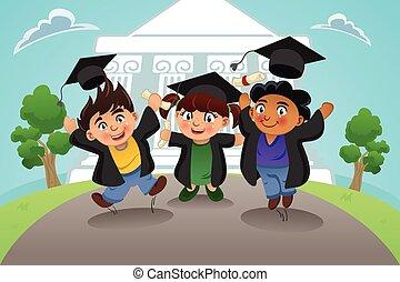 學生, 慶祝, 畢業